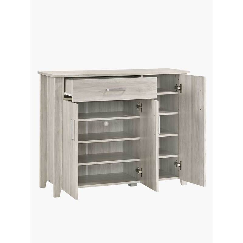 Oslo Large Shoe Cabinet Storage With Top Drawer In White Oak. H M S  Remaining. Oslo Large Shoe Cabinet ...