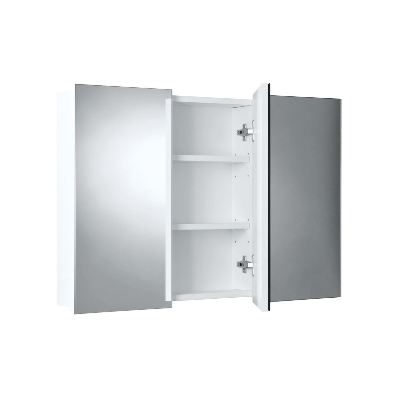 h m s Remaining  sc 1 st  MyDeal & Gloss White 3 Door Mirror Cabinet Pencil or Bevel Edge | Buy ...