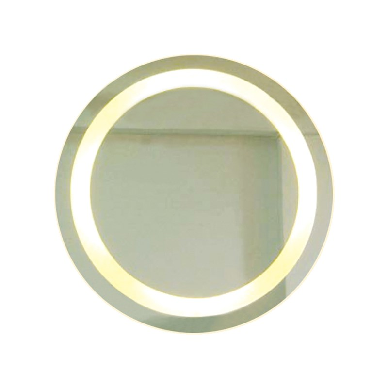 Backlit Round Bathroom Mirror With Border Buy Wall Mirrors 211104