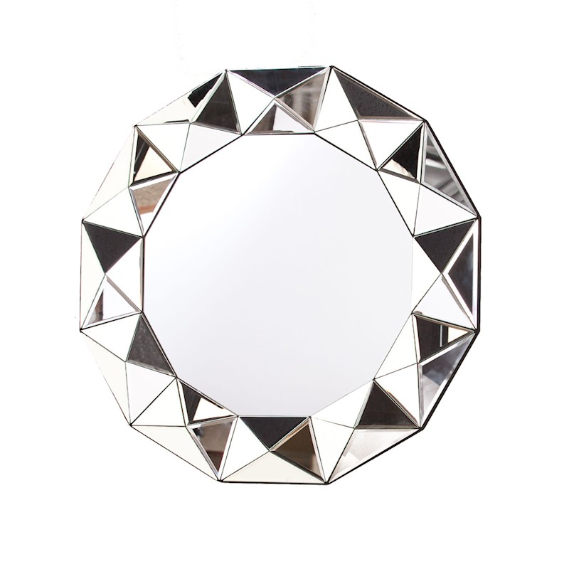 Montreal Round Multi Faceted Wall Mirror 90cm Buy Wall Mirrors