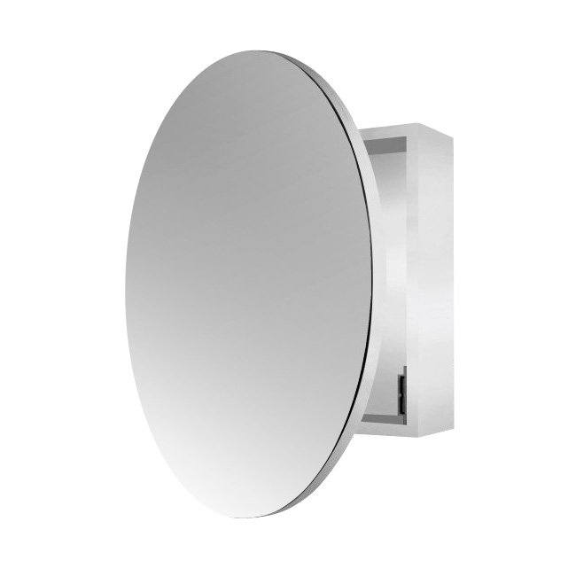 Round Single Door Mirror Cabinet 60cm Buy Bathroom