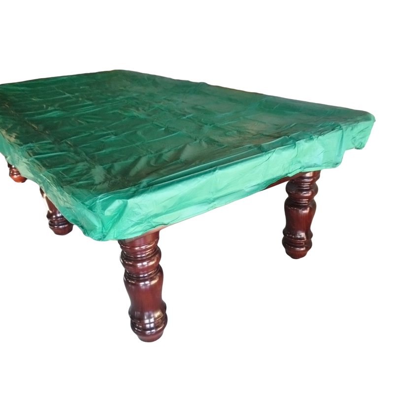 Green 9ft Fitted Plastic Pool Snooker Billiard Table Cover