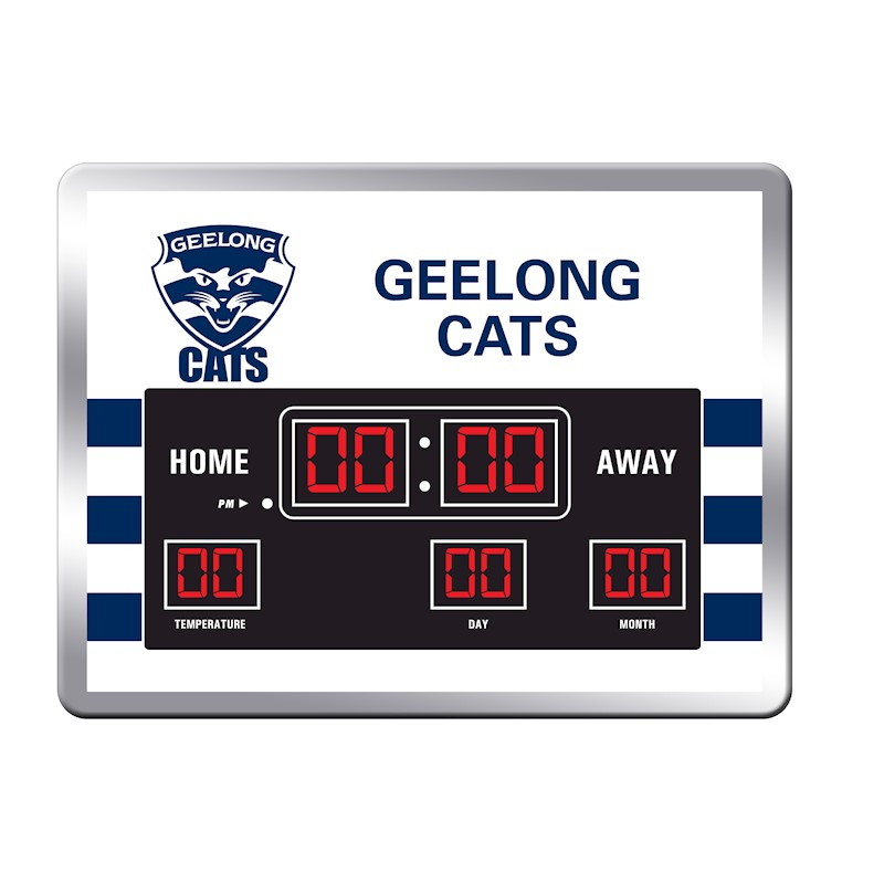 Licensed Afl Geelong Cats Aussie Rules Glass Scoreboard