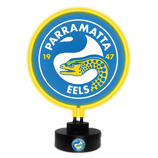 Parramatta Eels NRL Glass NEON Sign Light Sculpted Lamp