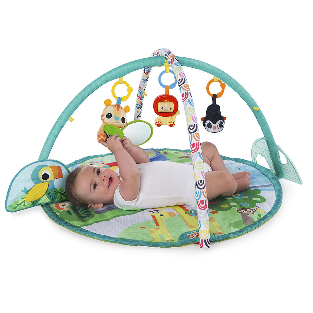 bdefb11ad0b Bright Starts Peek-A-Zoo Activity Gym Play Mat Baby Infants w  Music ...