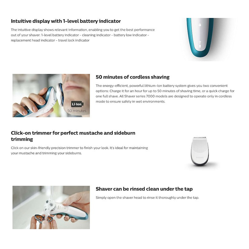 Philips Series 7000 Cordless Wet/Dry Shaver