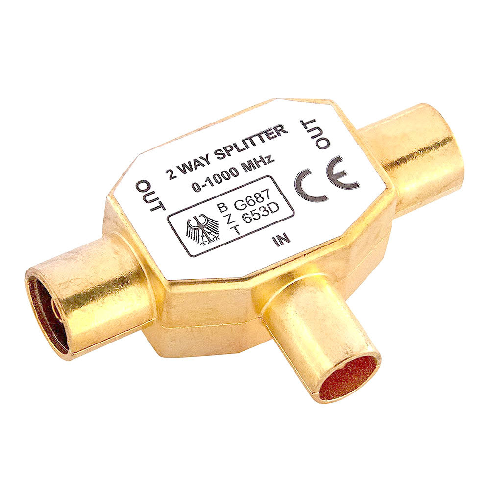Westinghouse Male to 2x Female RF Splitter - Gold Plated