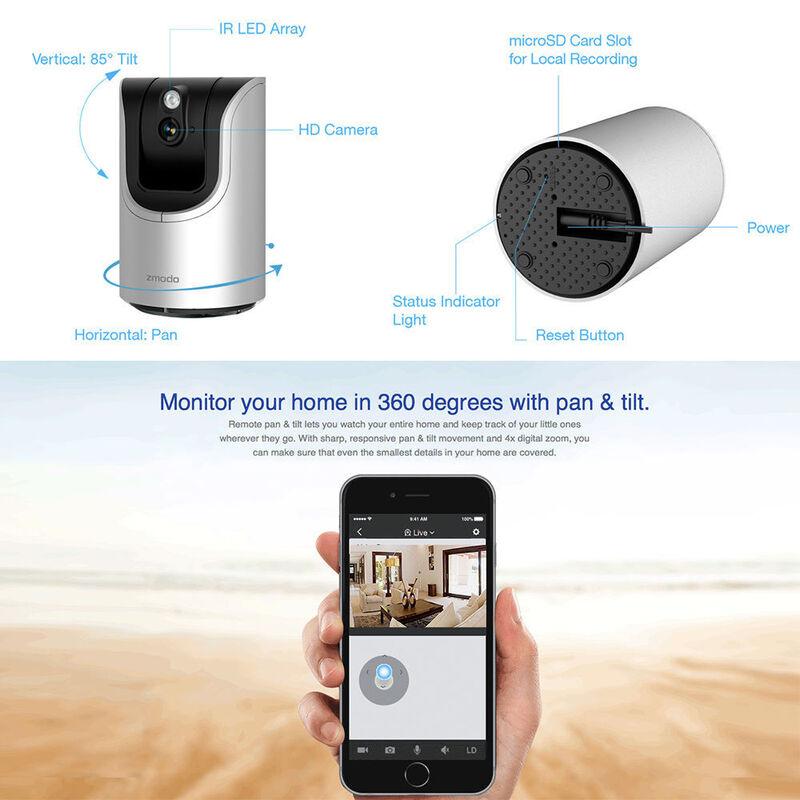 ZMODO WIFI IP Wireless Network Security CCTV Camera for PC iPhone Android  APP