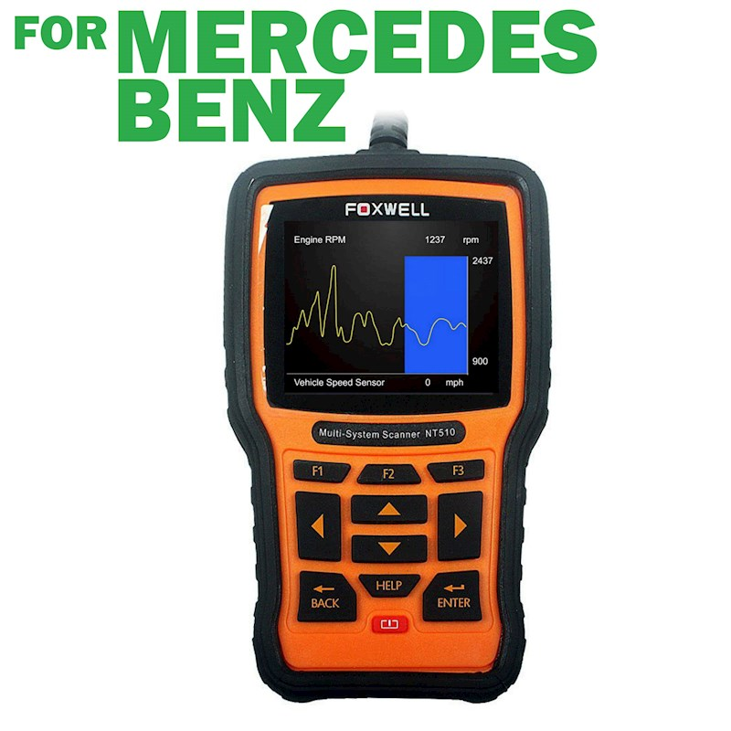 Nt510 Obd2 Reset Scan Tool For Mercedes Benz Multi System With Coding &  Programming