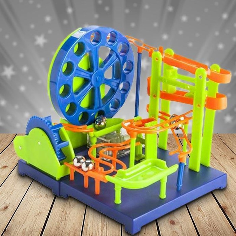 Marble Toys For Boys : Maborun big wheel marble rollercoaster kit buy