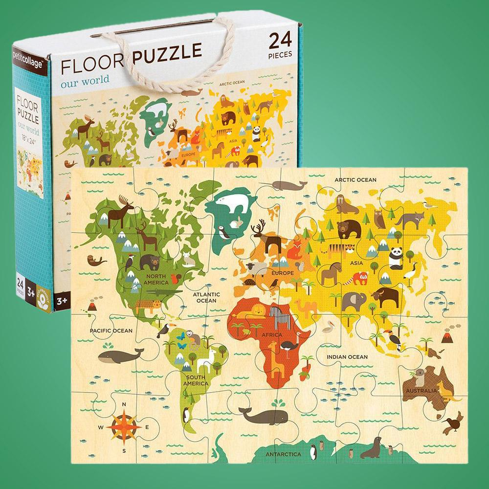 Our World Kids World Map Floor Puzzle 41 x 61cm on world travel, world shipping lanes, world glode, world flag, world wide web, world military, world wallpaper, world records, world statistics, world most beautiful nature, world projection, world globe, world border, world war, world hunger, world of warships, world earth, world culture, world history, world atlas,