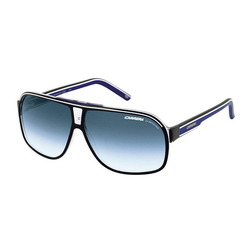 38d3b326c51 h m s Remaining. Carrera GRAND PRIX 2 - Shiny Black (Blue Lens) Unisex  Sunglasses