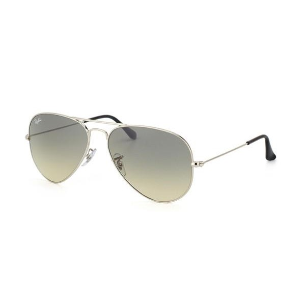 4b9faf956c5 h m s Remaining. Ray Ban RB3025 AVIATOR - Crystal Silver (Grey Gradient Lens)    55--14--135 Unisex Sunglasses
