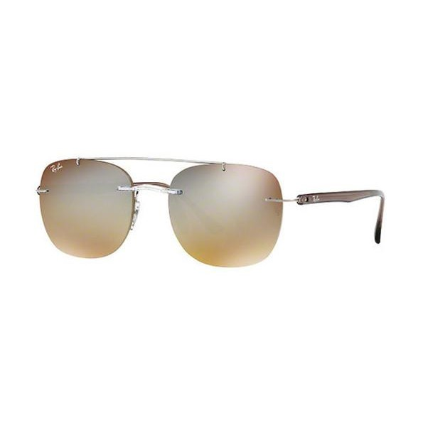 36c67c33357 Ray-Ban RB4280 55mm - Transparent (Brown Gradient Silver Mirror Lens ...