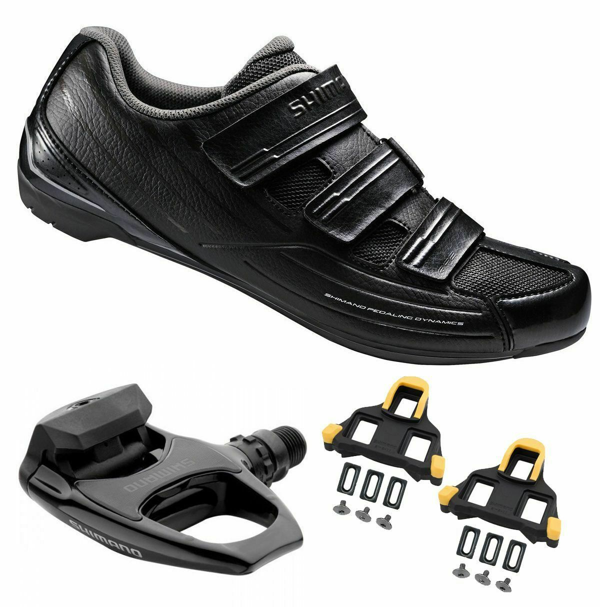 6bd0ea278e5 h m s Remaining. Shimano SH-RP2 SPD Touring Road Cycling Black Shoes ...