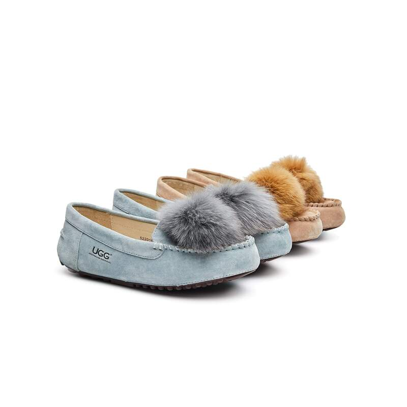 d2c26ade79a AS UGG Sophie Moccasin with Pom Pom #522016