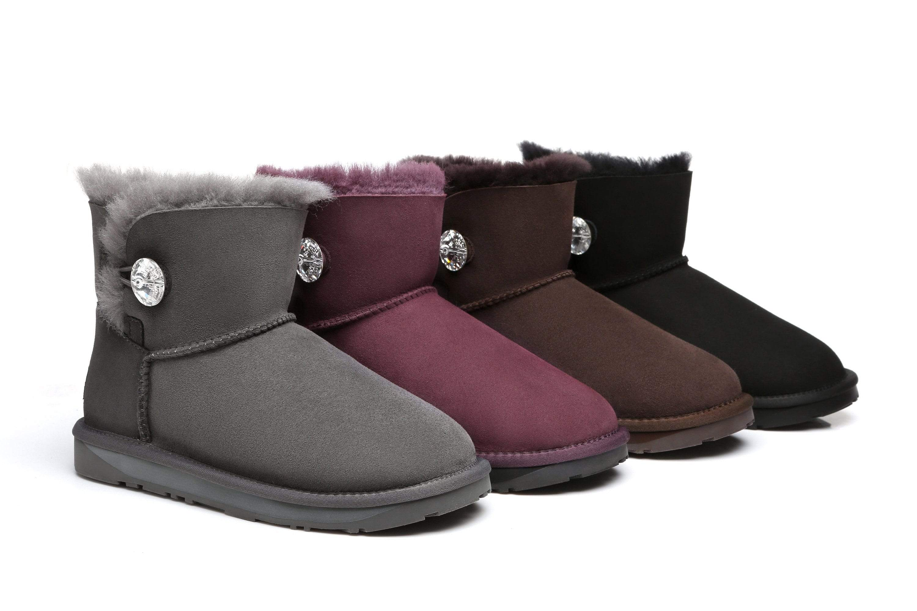 66d662ede14 Ever UGG Mini Button Boots with Crystal #11751- Clearance Sale