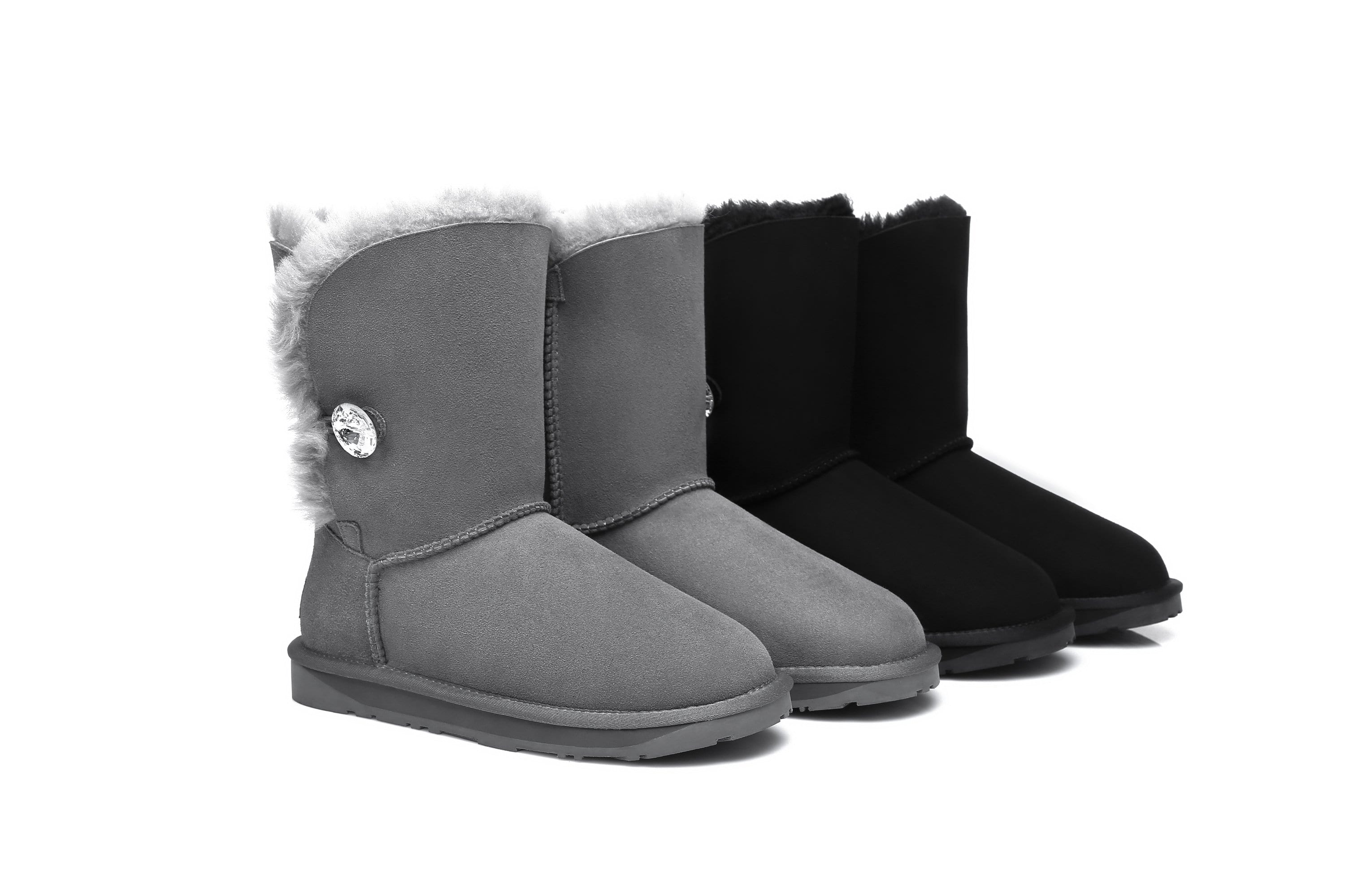 8004ebd11b8 Ever UGG Short Button Boots with Crystal #11851