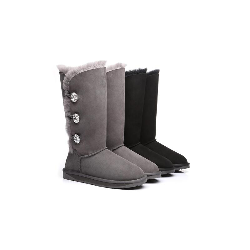 5cc86b3250d Ever UGG Tall Triple button boots with Crystal #11951- Clearance Sale