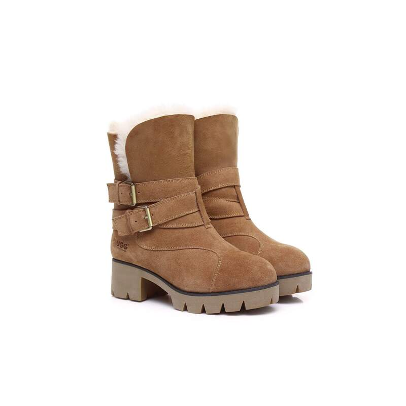 4b9c83f94e0 Ever UGG Boots Strap Buckle Melody #11747