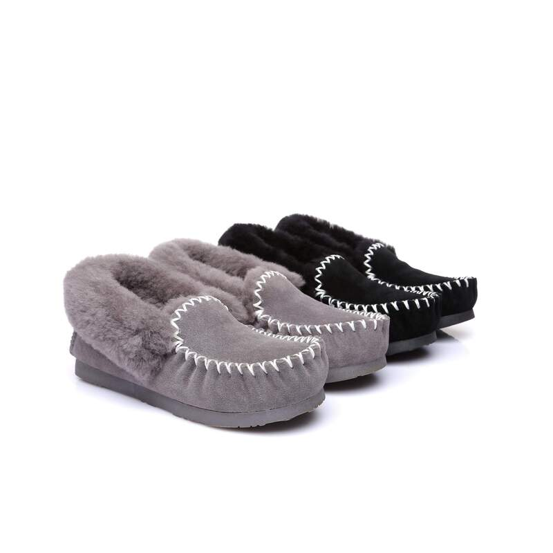 13f43a2d6a9 Ever UGG Ladies Double Sole Popo Moccasins Slippers #11607