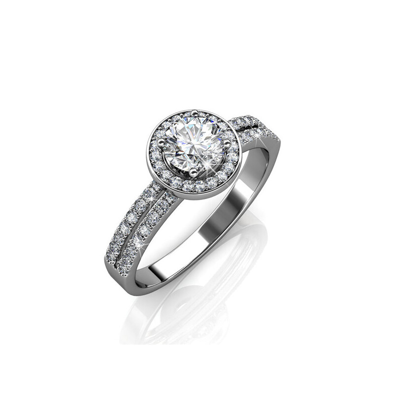 381032af2 h m s Remaining. Lustrous Pave Ring Embellished With Crystals From Swarovski