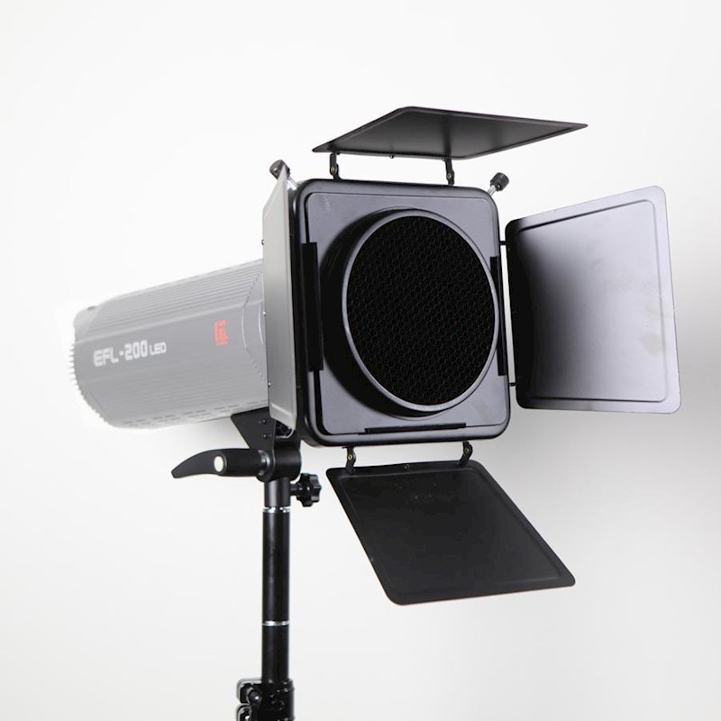 Hypop Barn Door And Reflector With Grid And Color Gel Kit For Strobe