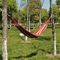 Hammock Swing Chair With Wooden Armrests In Cream Buy