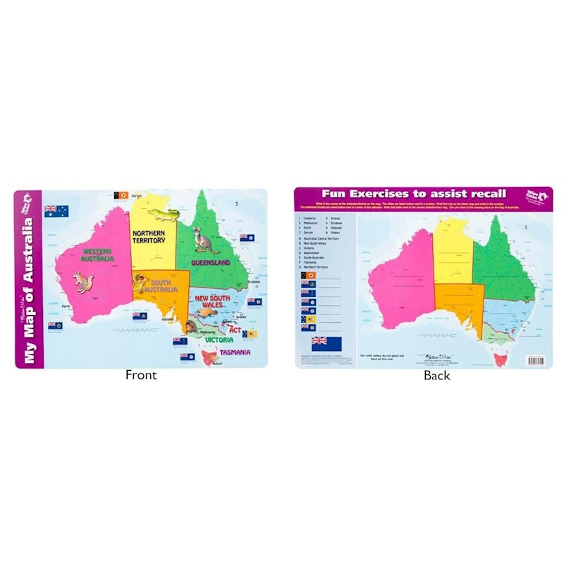 Map Of Australia To Buy.Gillian Miles My Map Of Australia Placemat