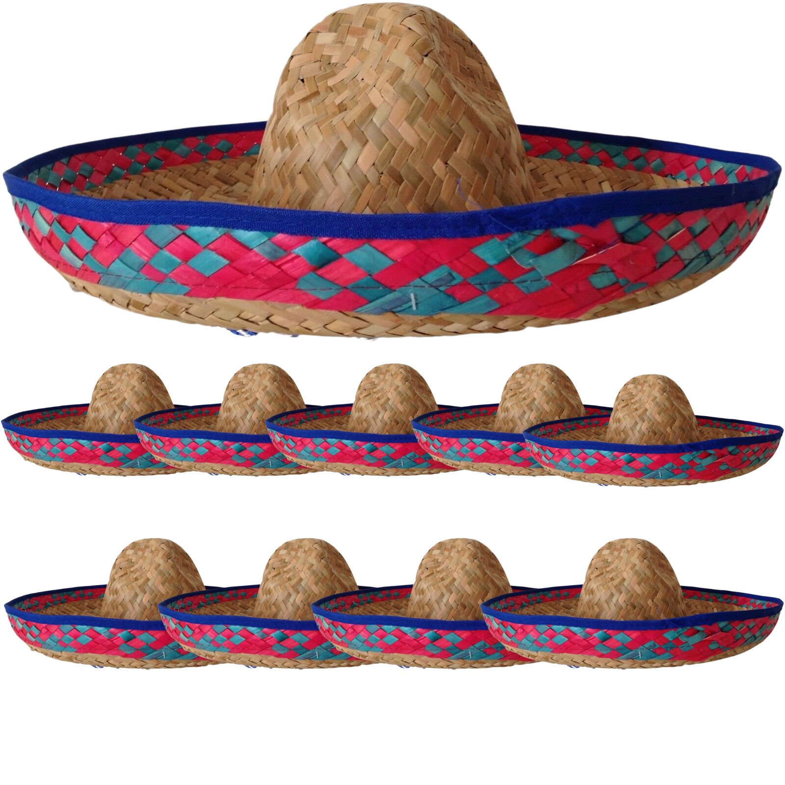 10x Mexican SOMBRERO Fancy Dress Straw Party Costume Hat Cap Spanish ... 8ed12801094