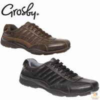 GROSBY Tourny GA Mens Lace Up Casual Shoes Leather Lined Comfortable Durable New