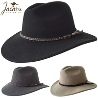 f4a52215a6d09 JACARU Australian Wool Fedora Hat Outback 100% WOOL Crushable Travel ...