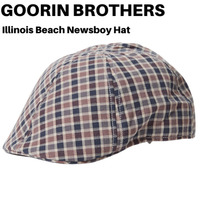 Goorin Brothers Men's Illinois Beach Cotton Ivy Newsboy Hat - Blue