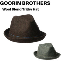 6cd166afb64 Goorin Brothers Men s The Barber Wool Blend Trilby Fedora Hat
