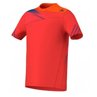 Adidas Boy's Adizero T-Shirt Top Red Tennis Climalite Tee Training Sports
