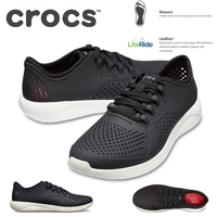 98dc8bf07a04 Crocs Men s LiteRide Pacer Sneakers Shoes Runners - Black White ...