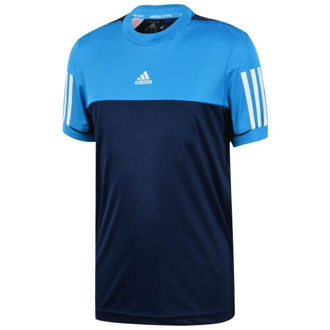 official photos e6dc4 a18b5 Adidas Response Childrens T-Shirt Top Blue Tennis Climacool Tee Training  Sports