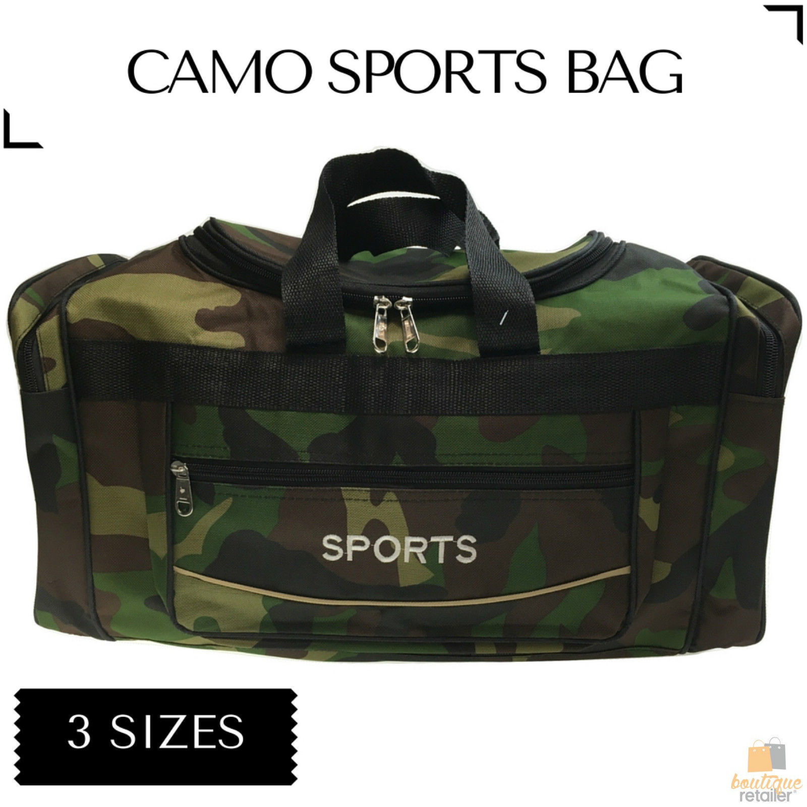 h m s Remaining. CAMO SPORTS BAG Gym Duffle Travel Water Resistant with  Shoulder Strap Camouflage 203d060767010