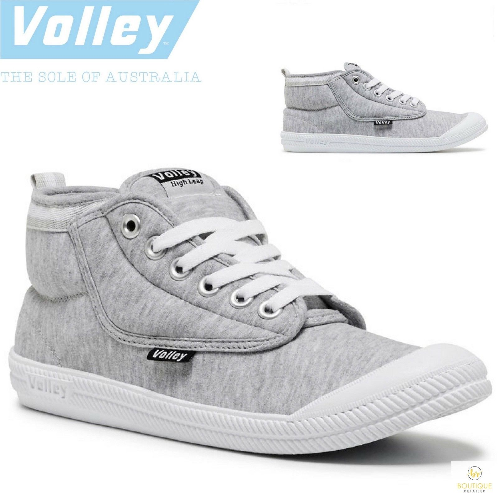 97590f2eb0d3 h m s Remaining. Dunlop Volley International HIGH TOP Hi Leap Fifty Shades Sneakers  Shoes Runners