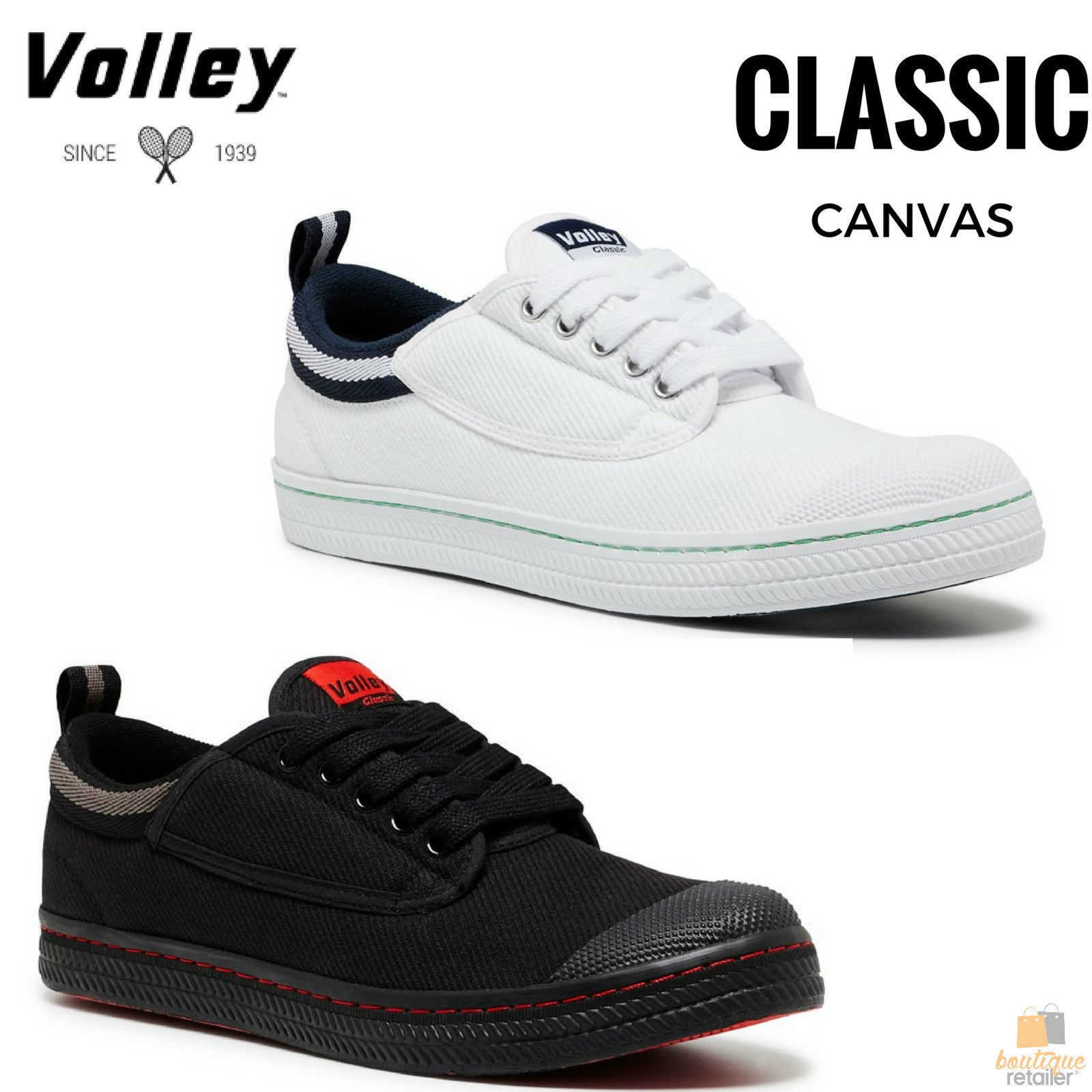 55178d6bd7e8 h m s Remaining. DUNLOP VOLLEYS Volley CLASSIC Men s Sneakers Casual Lace  Up Shoes Canvas New