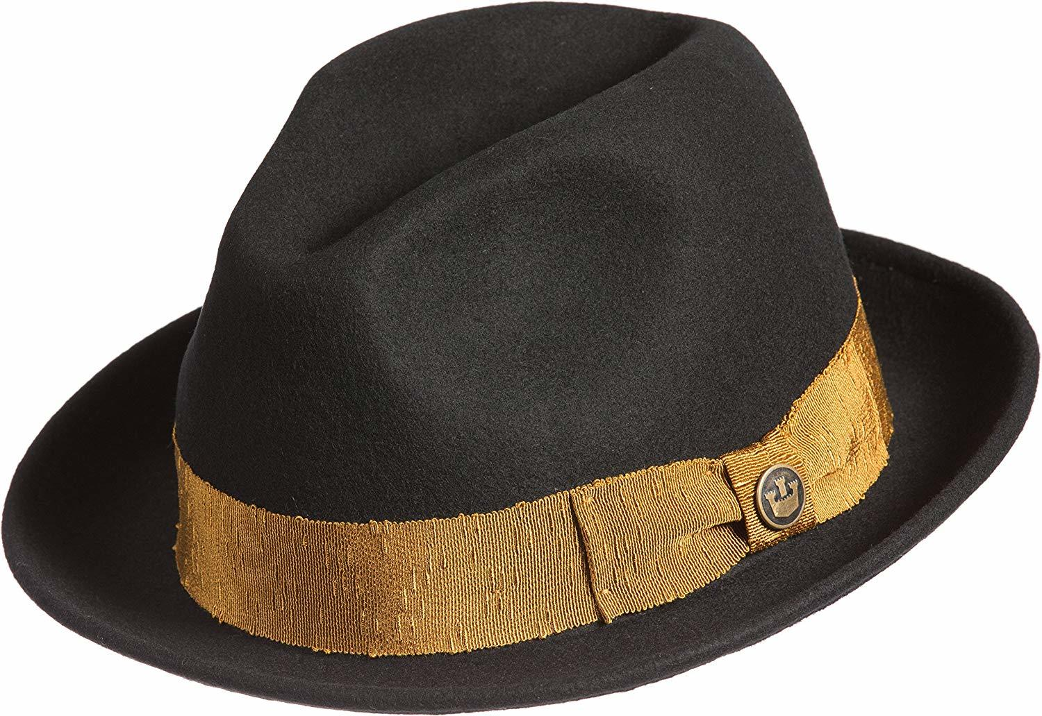 37aff9892 Goorin Brothers Men's Mr. Driver Wool Fedora Hat w Grosgrain Band