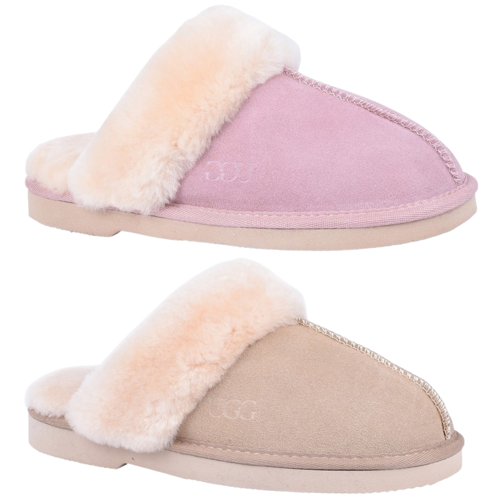 0f3021532a3 GROSBY Doe Women's Moccasin Sheepskin Slipper UGG Scuff Slip On Moccasins  Ladies
