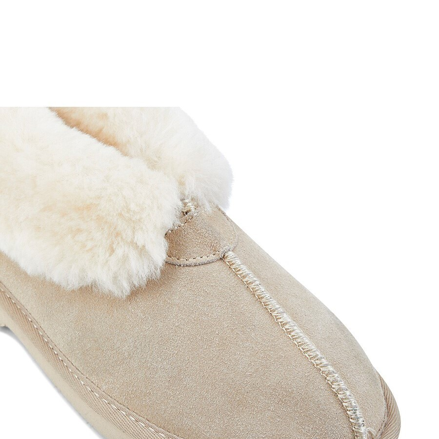 514ec4fbcb3 GROSBY Women's Princess UGG Boots Genuine Sheepskin Suede Leather Slippers