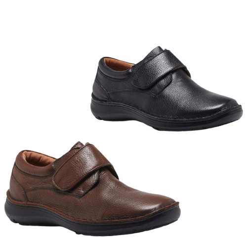 3771c3a800b0 HUSH PUPPIES BLOKE Leather Shoes Slip On Extra Wide Work All Day ...