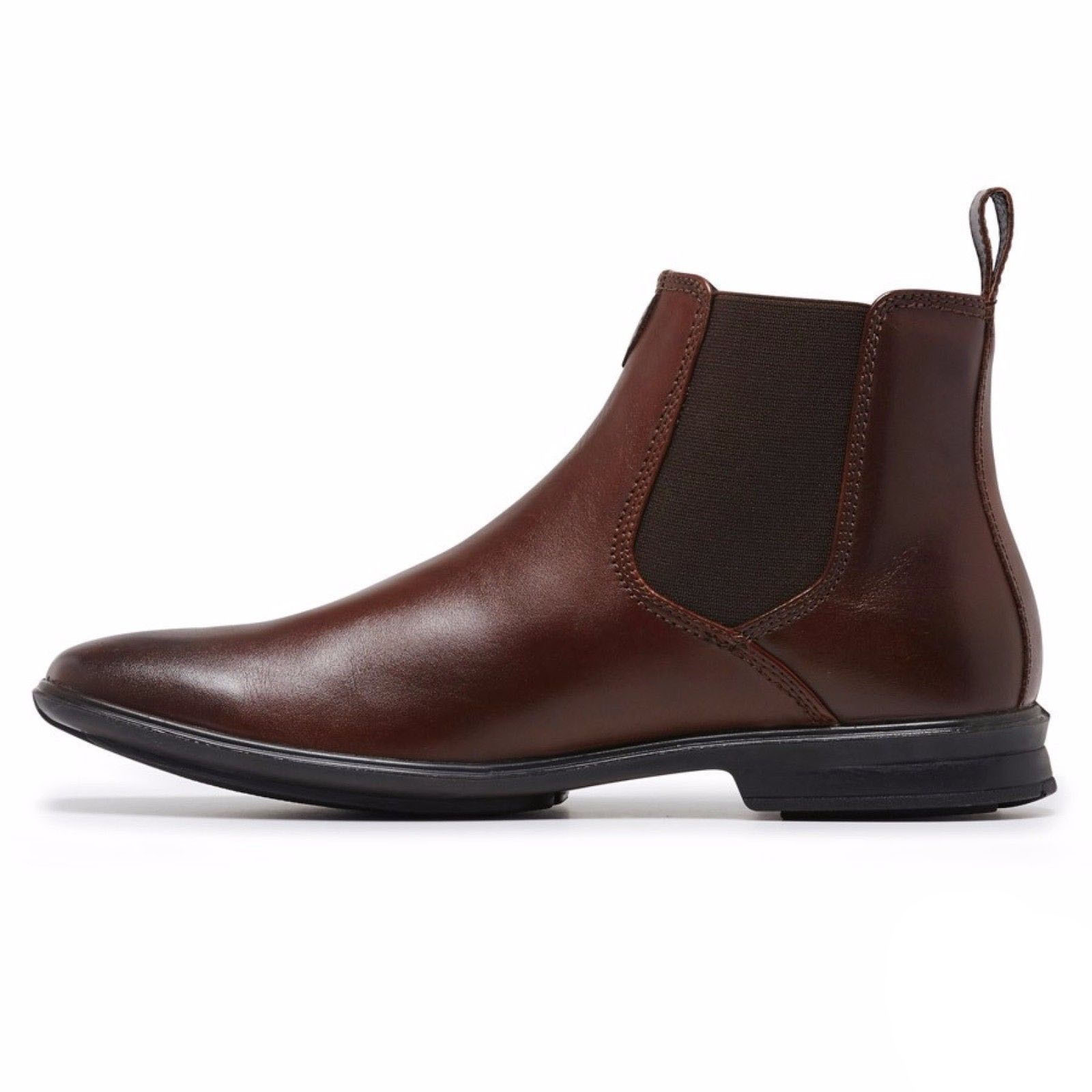 f2999c46f0c Men's HUSH PUPPIES CHELSEA Leather Boots Shoes Slip On Extra Wide Comfort  Work