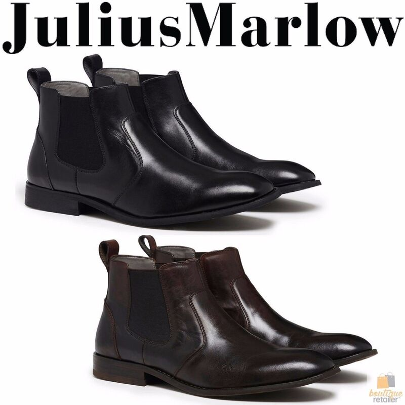 90eb40787ee0f JULIUS MARLOW Harry Leather Boots Mens Slip On Dress Work Formal Casual  Shoes
