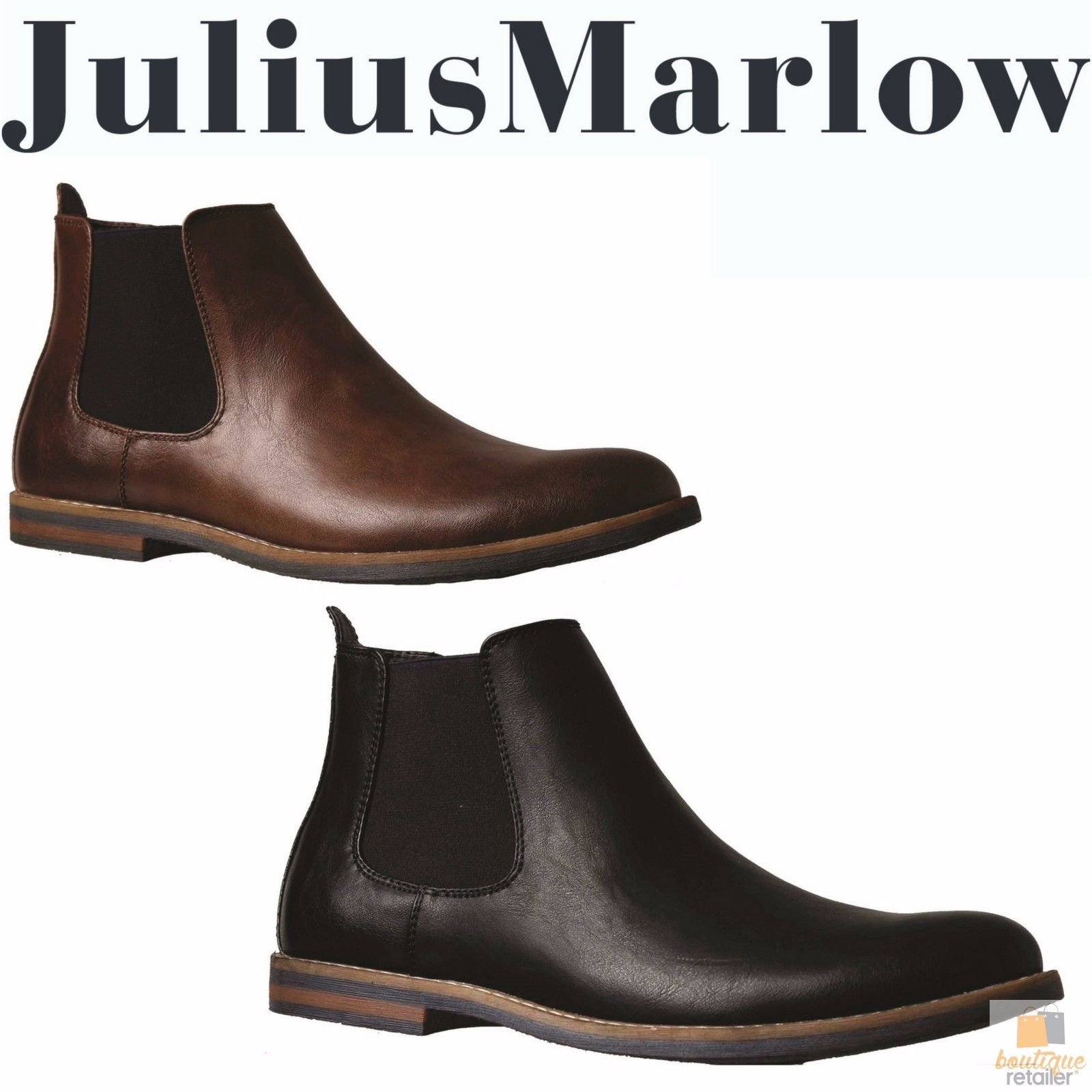 a22cdcb90d08e JULIUS MARLOW JM33 Manny Boots Work Casual Dress Shoes Slip On Men's Chelsea
