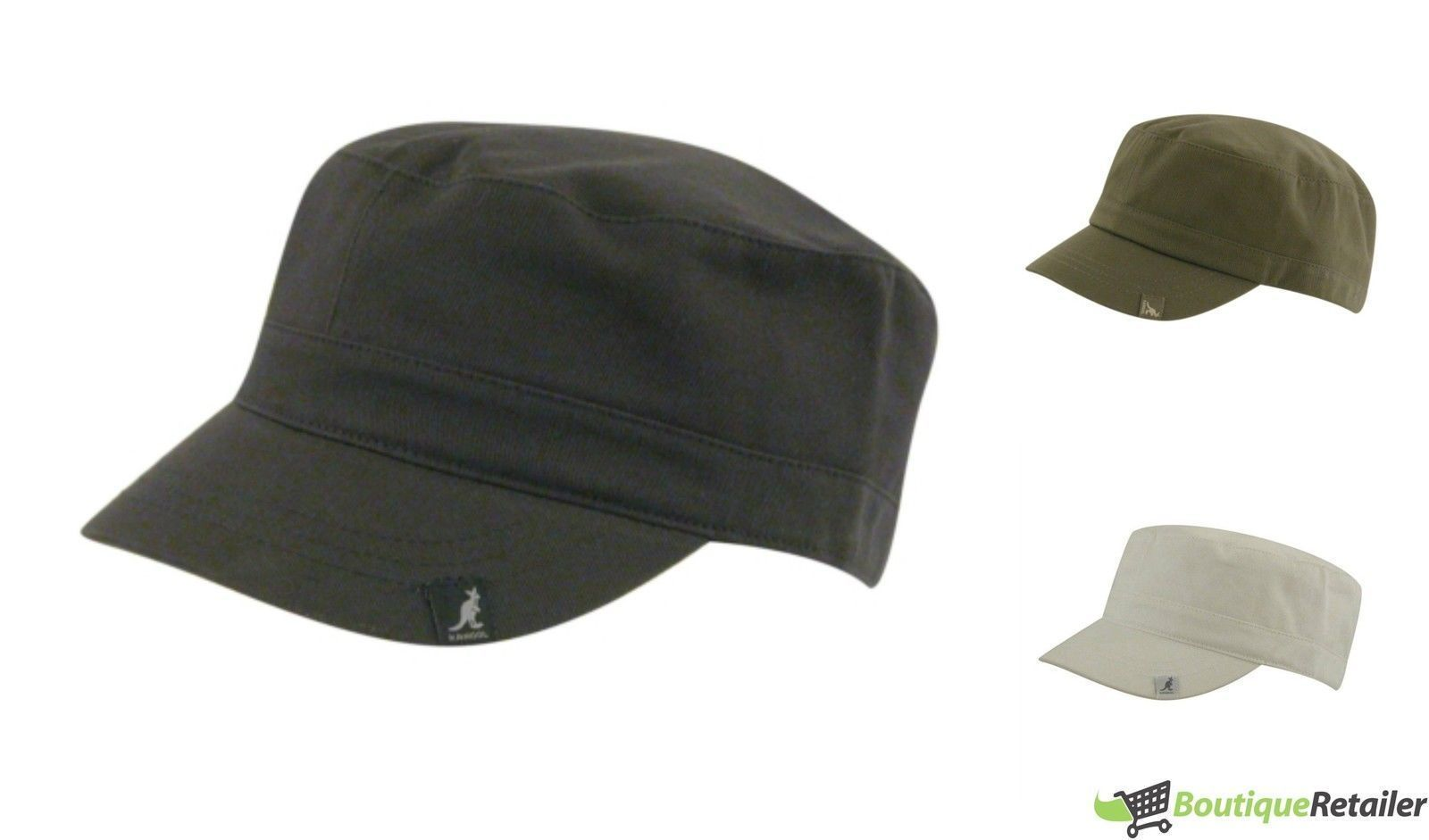 KANGOL 100% Cotton Adjustable Army Cap Military Style Cadet Hat ... e532741be2e