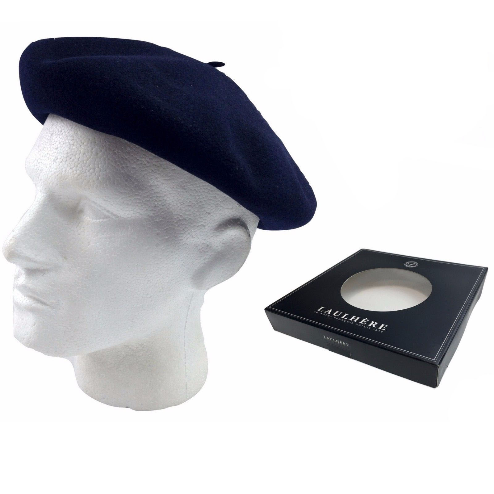 ed15cde49ed LAULHERE Vrai Basque French BERET 100% Wool MADE IN FRANCE ...
