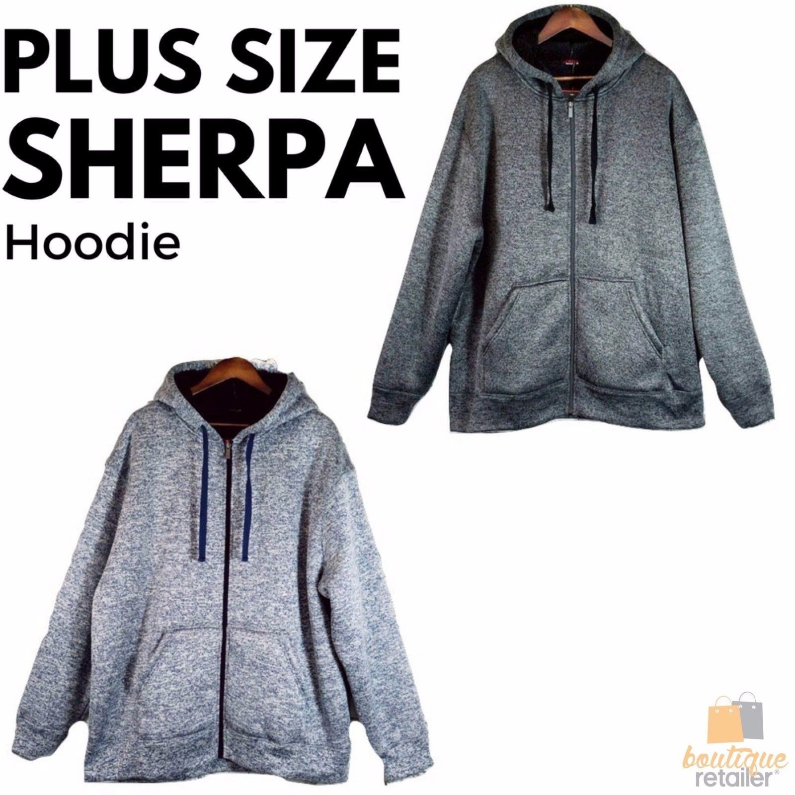 24eb5b03a4b h m s Remaining. MENS PLUS SIZE SHERPA JACKET Big King Lined Fleece Coat  Winter ...